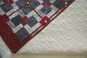Quilt Bouton Blanc